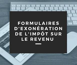 FORMULAIRE_D'EXONÉRATION_DE_L'IMPÔT_SUR_