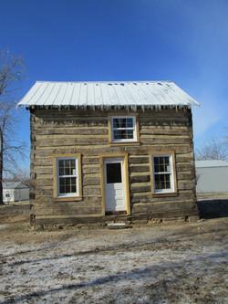restored 1860's log cabin