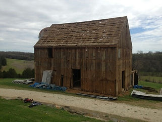 this timberframe barn is now a master suite, bedroom, bathroom and loft reading nook
