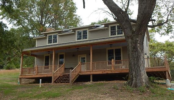 Restored log and timberframe home