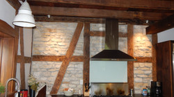 timber frame and stone