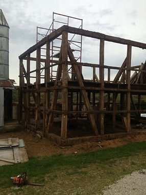 Timberframe barn being taken to reuse in a new way