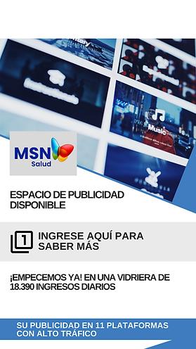 Contratar espacio de Publicidad, MSN Salud Noticias