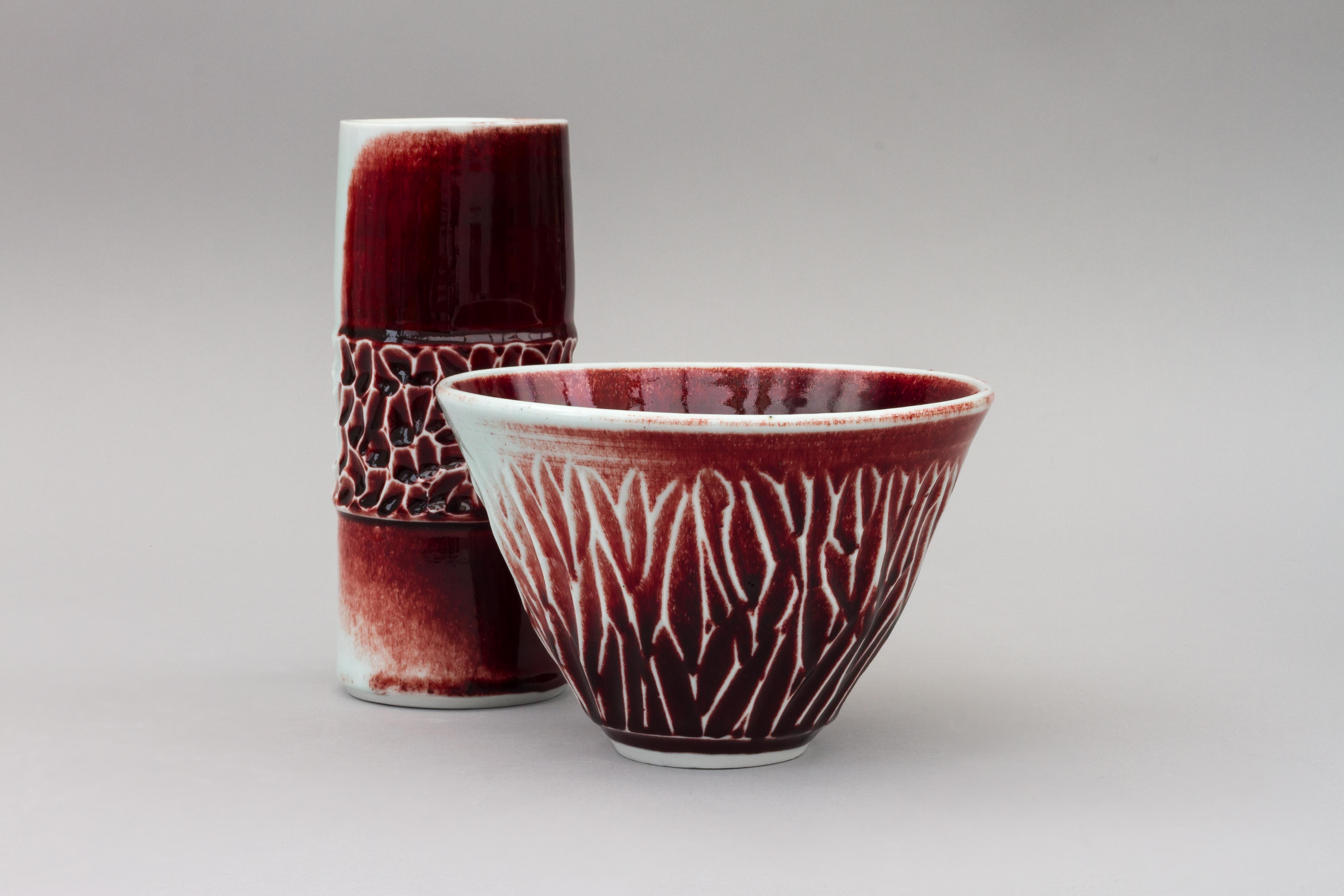 Carved Bowl and Vase