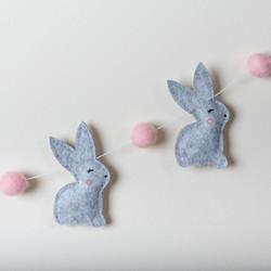 Pink Bunny Garland - detail