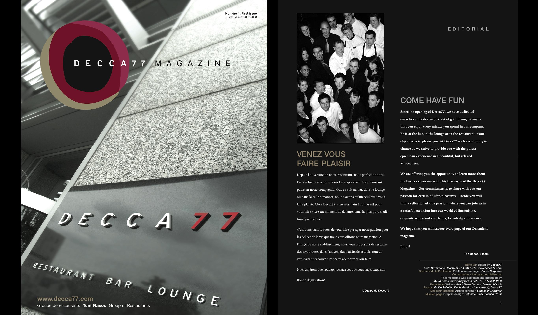 Magazine du Decca 77