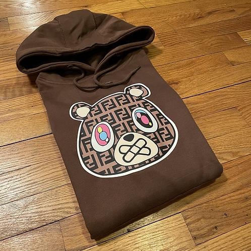 Chocolate FF bear hoodie