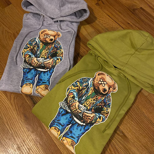 Grey and lime Biggie Bear pack