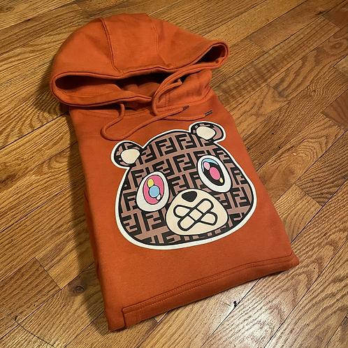 Orange FF bear hoodie