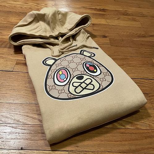 Cream GG bear hoodie