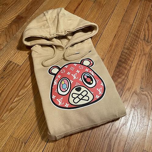 LV SUP Khaki bear hoodie