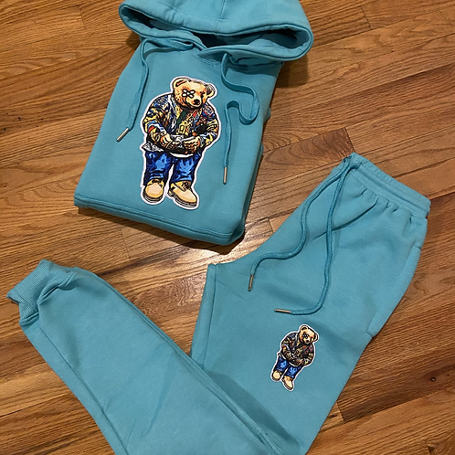 Baby Blue Coogi bear limited sweatsuit