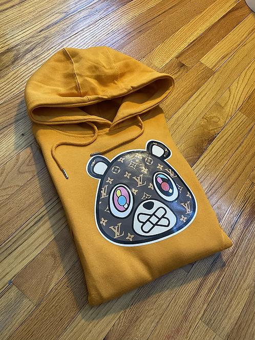 Members Mustard LV bear hoodie