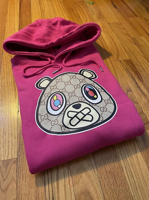 Members Dark pink GG bear hoodie