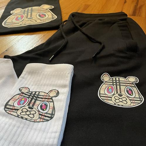 Black BUR Bear shorts set