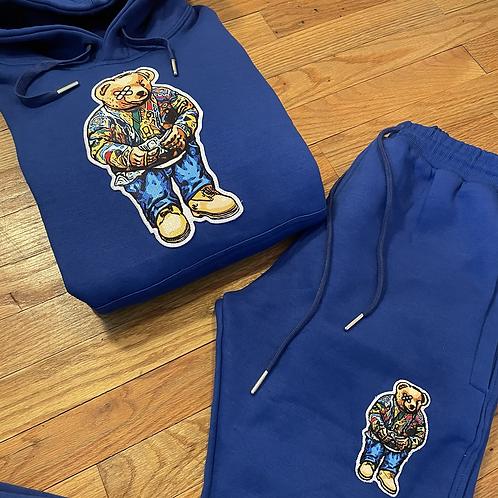 Royal midnight blue biggie bear sweatsuit
