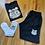 Thumbnail: Black BUR Bear shorts set