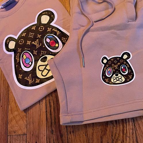 Tan LV bear short set
