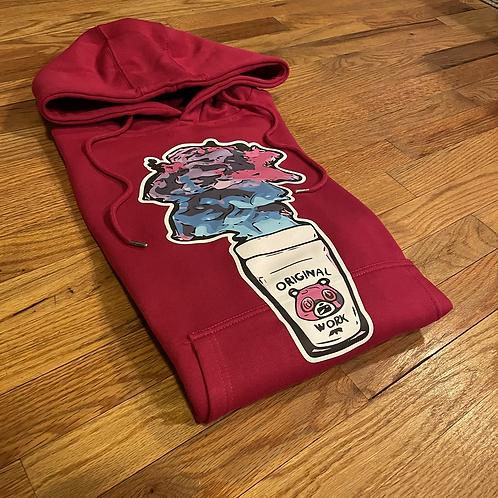 Dark violet dirty sprite hoodie