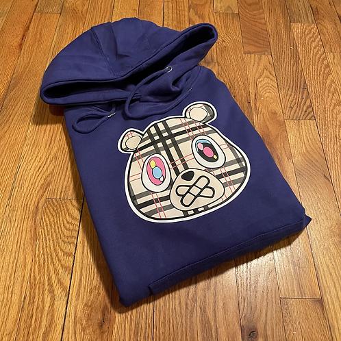 Dull Royal Blue BUR bear hoodie