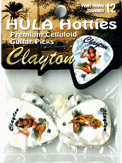 Palheta Hula Hotties Clayton pack com 12