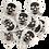 Thumbnail: Palheta Skull Acetal Heavy 5 un na latinha!