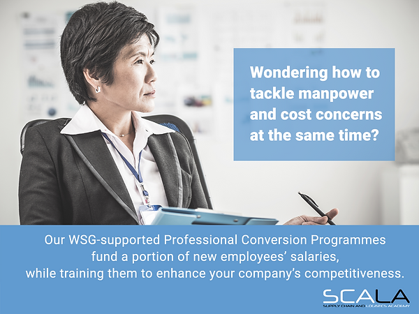 WSG Professional Conversion Programme comes with Government Salary Support Funding