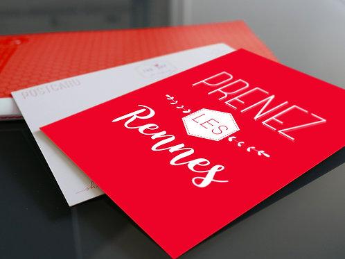 Carte postale | Prenez les Rennes