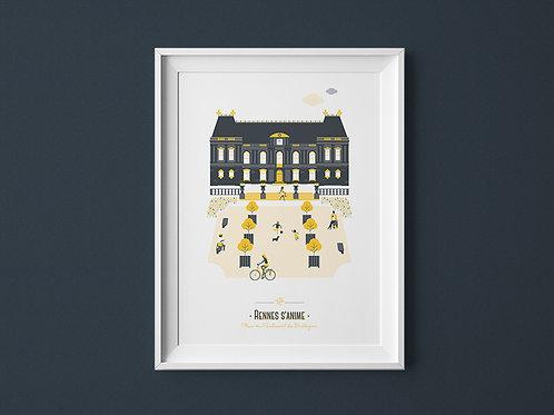 Affiche | Rennes Parlement | Jaune