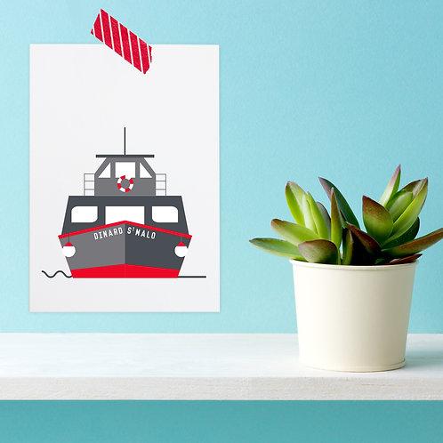 Carte postale Saint-Malo Dinard | Le bus de mer
