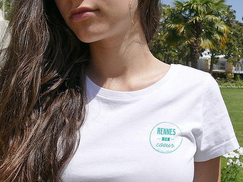 T-shirt Femme | Rennes de cœur