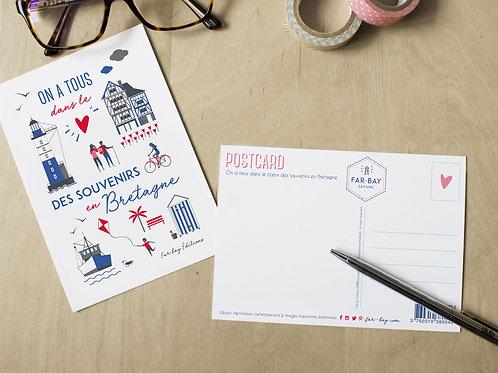 Carte postale | Souvenirs en Bretagne