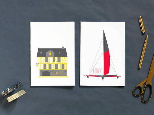 Cahiers | Set de 2 | Morbihannais