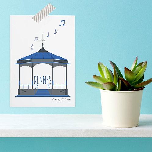 Carte postale Rennes | Kiosque du Thabor