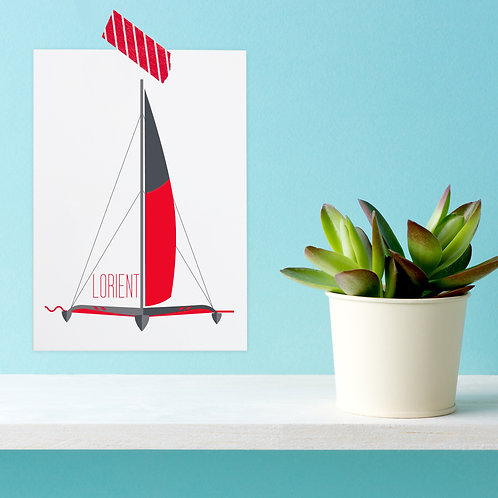 Carte postale Lorient | Trimaran de course