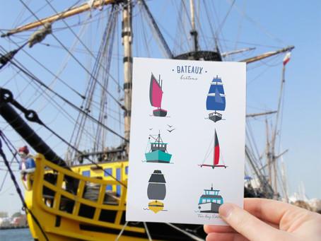 Nouvelle carte bateaux bretons
