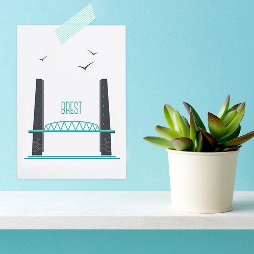 Carte postale Brest | Pont de Recouvrance
