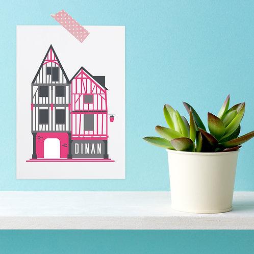 Carte postale Dinan | Maison à colombages