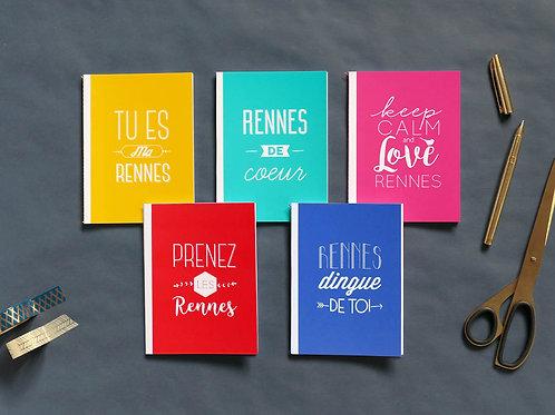 Petits carnets | Set de 5 | Love Rennes