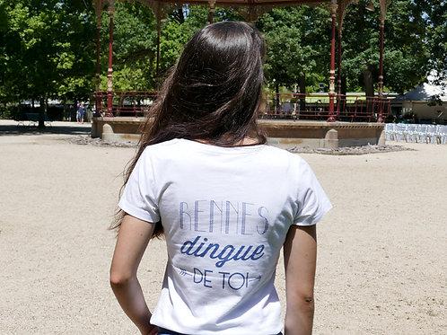 T-shirt Femme | Rennes dingue de toi | Dos