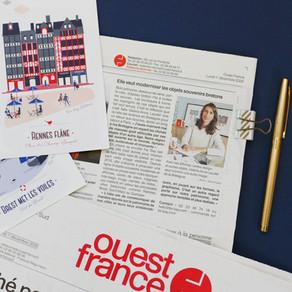 Ouest France : Elle veut moderniser les objets souvenirs bretons