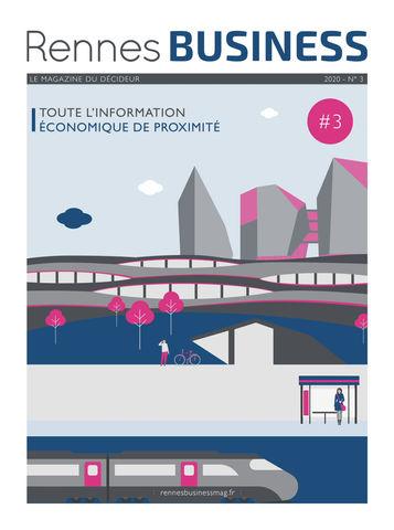 Far bay illustre et anime la couverture du Rennes Business Magazine #3