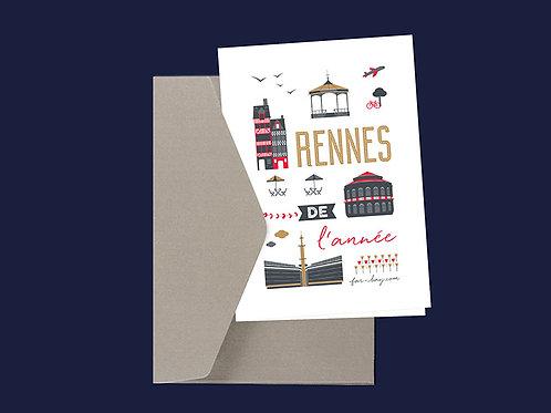 Carte de vœux | Rennes de l'année
