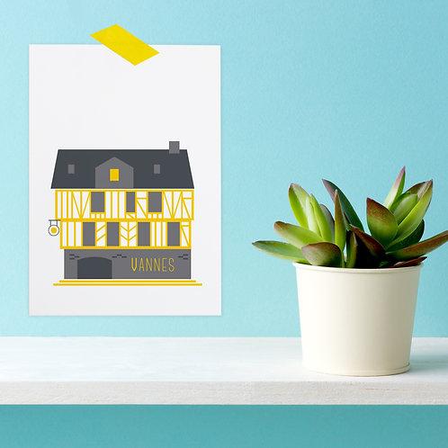 Carte postale Vannes | Place Henri IV
