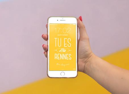 Téléchargez nos fonds d'écran colorés Love Rennes & Brest