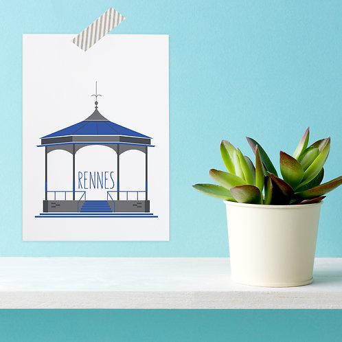 Carte postale Rennes   Kiosque du Thabor