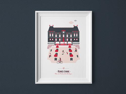 Affiche | Rennes Parlement | Rouge