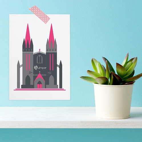 Carte postale Quimper | Cathédrale Saint-Corentin