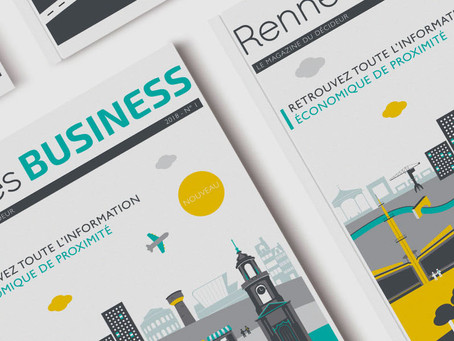 Far bay signe la couverture du nouveau Rennes Business Magazine !