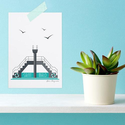 Carte postale Saint-Malo | Plongeoir